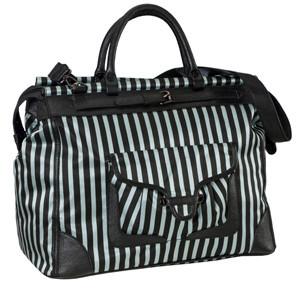 SL Blk Stripe Silver Getaway Bag