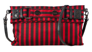 SL Blk Stripe Red Clutch/Cross Body