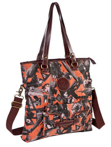 SL Going Places Fold Over Across Body Tote Orange