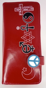 SHAGWEAR CO-EXIST RED LARGE ZIPPER WALLET