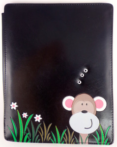 SHAGWEAR PEEKING MONKEY BLACK I-PAD COVER