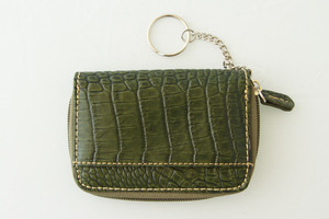 SL Quilted & Croc Mini Wallet Green