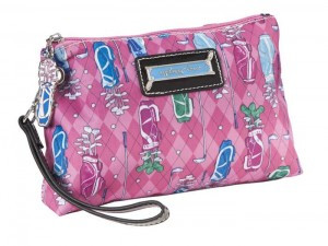 Sydney Love Sport Golf PINK Cosmetic Wristlet w/Tee Holder