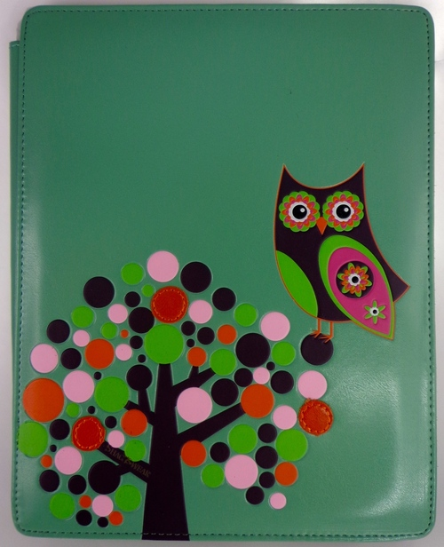 SHAGWEAR RETRO OWL TEAL I-PAD COVER