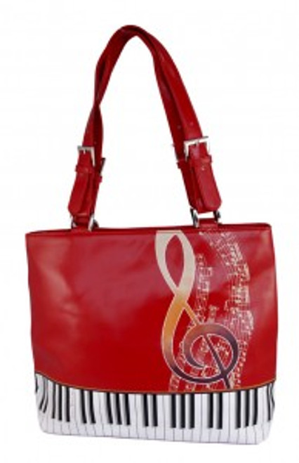 ShagWear Tote Bag Keyboard Melody Red NEW