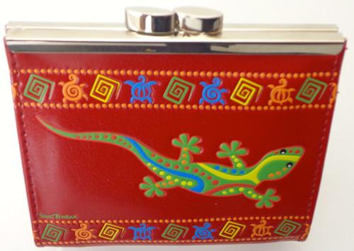 ShagWear Coin Purse Geckos Red NEW