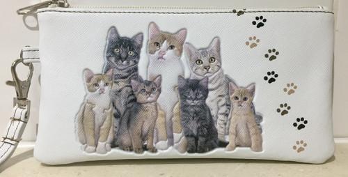 MIA LOUISE KITTY CAT CLUTCH/ PURSE / PHONE WALLET