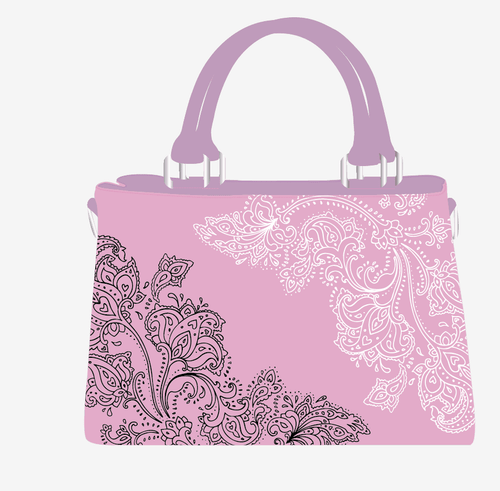 MIA LOUISE PINK LACE TOTE