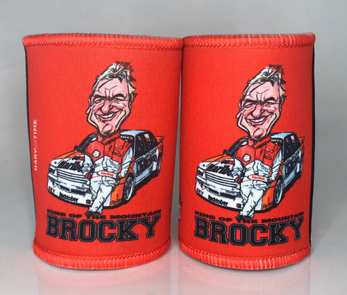 RED PETER BROCK KING OF THE MOUNTAIN STUBBY HOLDER