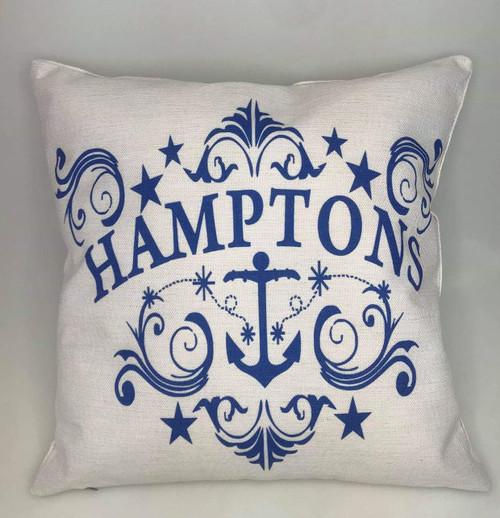 HAMPTONS STYLE CUSHIONS + INSERT 45CM X 45CM
