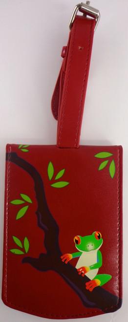 SHAGWEAR TREE FROG RED LUGGAGE TAG