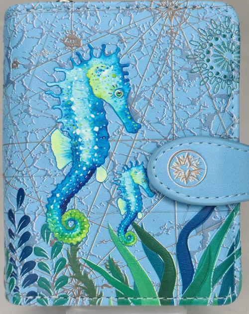 SEA HORSE BLUE SMALL WALLET