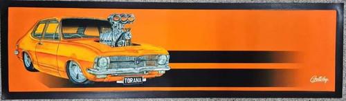 HOLDEN TORANA ORANGE BAR RUNNER 890MMX 240MM