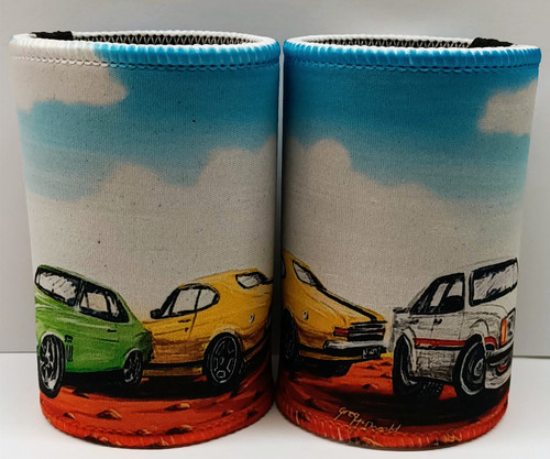 ICONIC HOLDEN GRN, YEL, WH STUBBY COOLERS