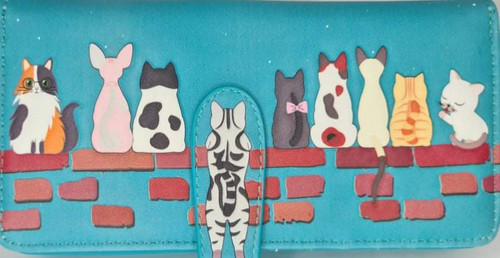 CATS IN A ROW LARGE LADIES WALLET