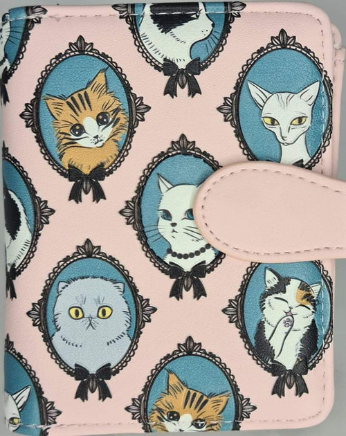 CAT CAMEO PINK SMALL LADIES WALLET