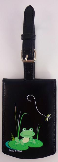 SHAGWEAR FROG PRINCE BLACK LUGGAGE TAG
