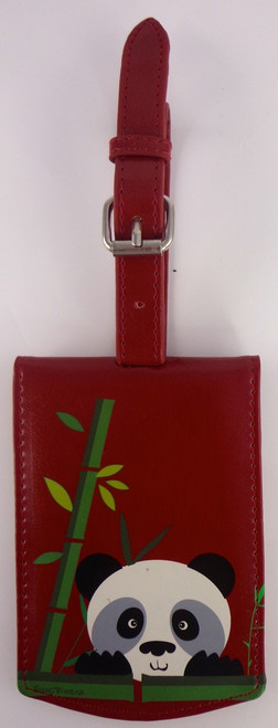 ShagWear Luggage Tag Panda Red