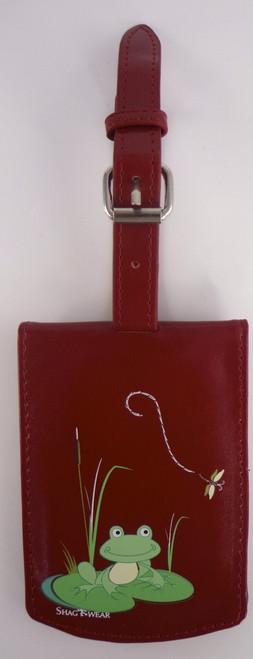 SHAGWEAR FROG PRINCE RED LUGGAGE TAG