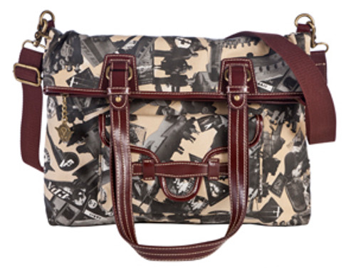 SL Going Places Fold Over Across Body Tote Stone
