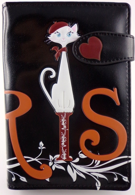 SHAGWEAR PARIS CAT BLACK PASSPORT HOLDER