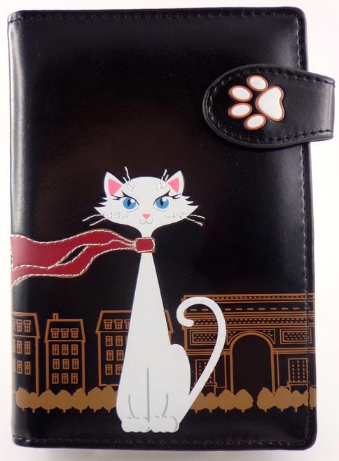 SHAGWEAR TRAVEL CAT BLACK PASSPORT HOLDER