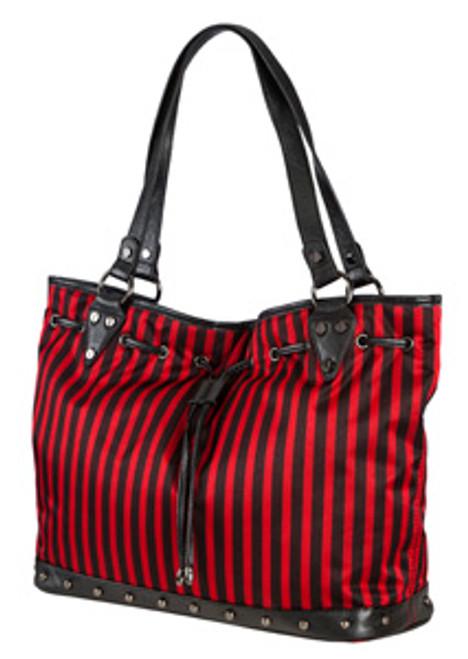 SL Blk Stripe Red Bucket Bag
