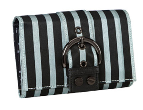 SL Blk Stripes Silver Wallet