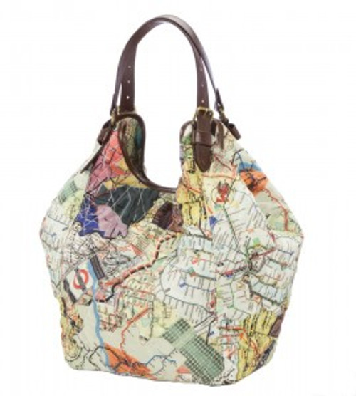 Sydney Love Subway Print Quilted Tote