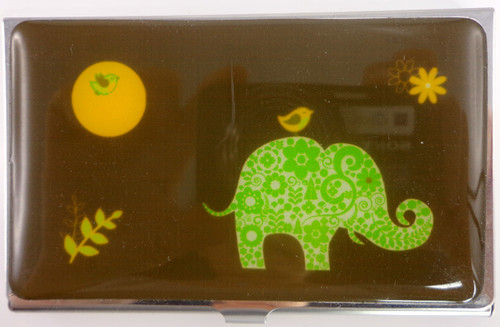 SHAGWEAR ELEPHANT BRONZE BUSINESS CARD HOLDER