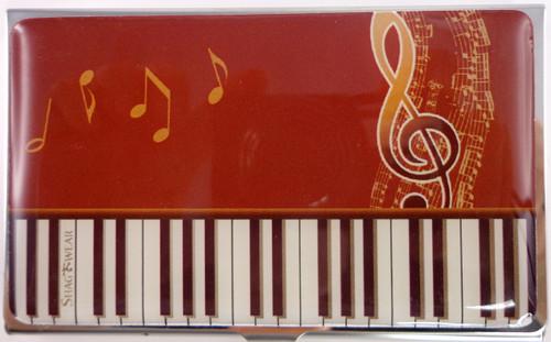 SHAGWEAR KEYBOARD MELODY RED BUSINESS CARD HOLDER