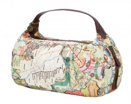 Sydney Love Subway Print Quilted Hobo Hand Bag