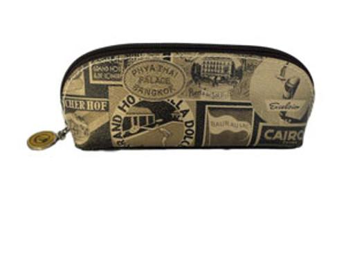 Sydney Love Black/Gold Travel Print Eyeglass/Cosmetic