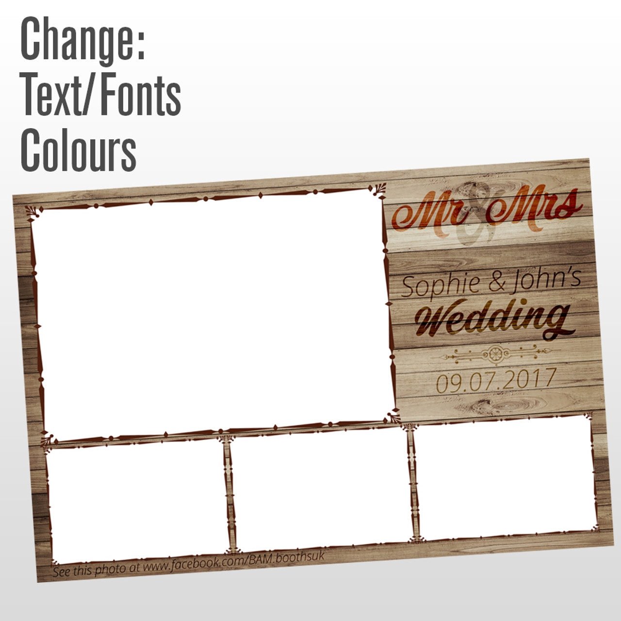 4 photo wood panelling photo booth template - Reakt Photo Booths
