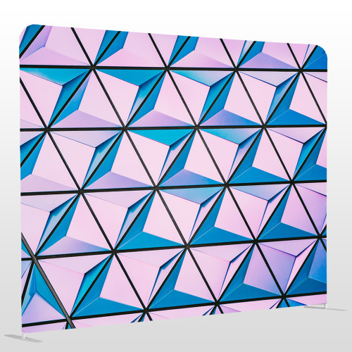 3D geometric colourful single sided pillow backdrop 8ft x 8ft