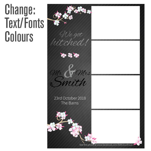 4 photo cherry blossom photo booth template