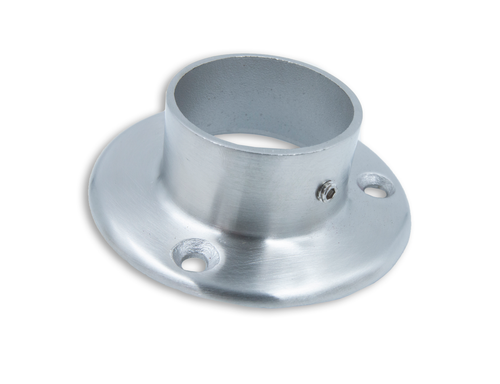 Flange Mount, architectural mounting for Partitions, sneeze guard posts and many endless applications