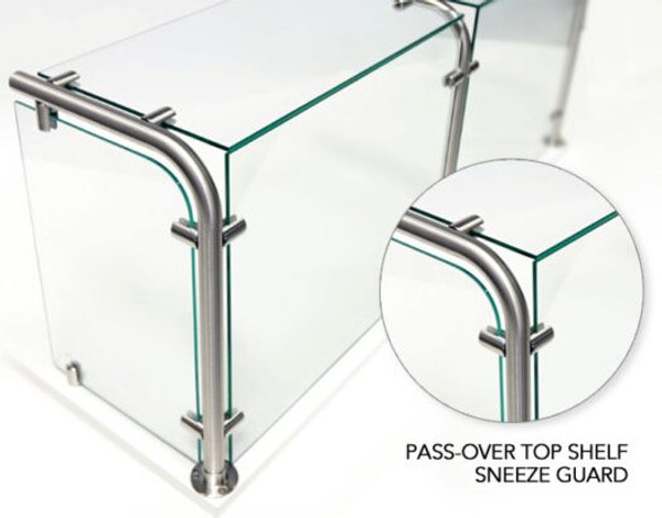 Round Top Shelf Sneeze Guard Post -Closed End