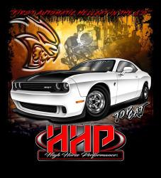 High Horse Performance Branded T-Shirt -  HHP TopCat Challenger, Short Sleeve Tee Shirt - 1603