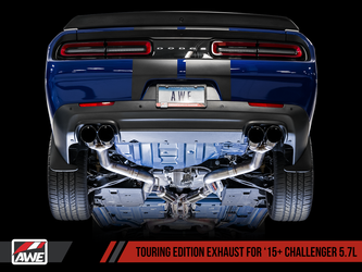 AWE Track Edition Exhaust for 15+ Challenger 5.7 - Stock Tips - 3015-11054