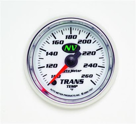 Auto Meter NV Series Trans Temperature Luminescent Green Gauge (100 to 260 F) - 7357