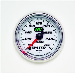 Auto Meter NV Series Water Temperature Luminescent Green Gauge (100 to 260 F)  - 7355