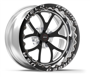 """WELD Racing S76 RT-S 15x10 6.5"""" Backspace Black Center Rear Beadlock Wheel for 05-Current Challenger, Charger, Magnum & 300C R/T, SRT8, SRT & Hellcat with 15"""" Brake Conversion - 76MB-510W65F"""