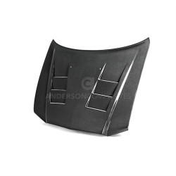 Anderson Composites Heat Extractor-style Carbon Fiber Hood (2011-2014 Charger) - AC-HD1113DGCR4D-TS