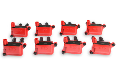 MSD Blaster Ignition Coil Pack Set in Red for 05-20 Gen III HEMI 5.7/6.1/6.2/6.4L