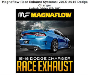 Magnaflow Stainless Race Series Axle-Back Exhaust (2015-2016 6.2L/6.4L Dodge Charger SRT8 / Hellcat) - 19235