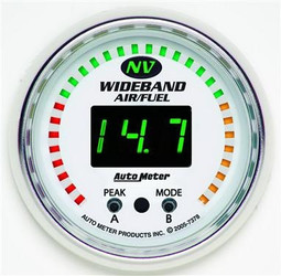 Auto Meter NV Series Wideband A/F Ratio Luminescent Green Gauge (10 to 20:1 AFR) - 7378