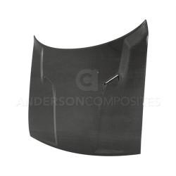 Anderson Composites OEM-style Carbon Fiber Hood (2008-2014 Challenger) - AC-HD0910DGCH-OE