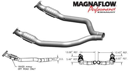 Magnaflow Direct-Fit High-Flow Catalytic Converter System (2006-2015 6.1L/6.4L SRT-8 Cars) - 16420