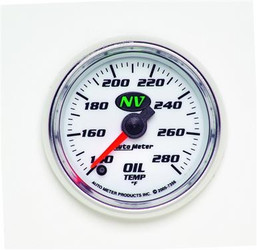 Auto Meter NV Series Oil Temperature Luminescent Green Gauge (140 to 280 F) - 7356